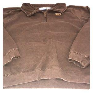 Reebok Pullover Size Men's Large Brown Orange ♥️😘